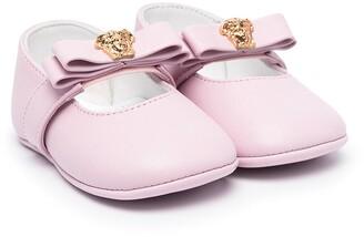 Versace Medusa plaque ballerina shoes