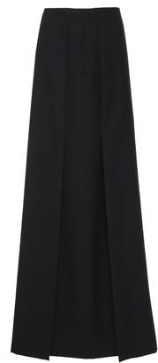 Valentino Pleated Wool-Blend Maxi Skirt