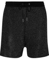 Sandro Phedra Metallic Knitted Shorts
