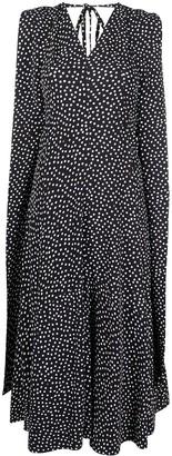 Victoria Beckham Sleeveless Polka Dot Midi Dress