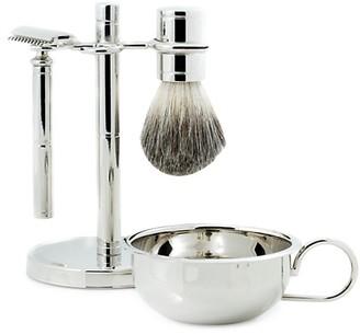 Bey-Berk 4-Piece Safety Razor, Badger Brush, Soap Dish Stand Set