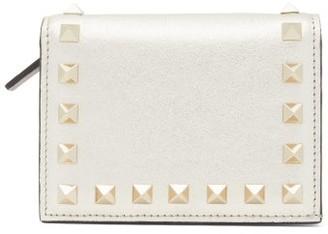Valentino Rockstud Bi-fold Leather Wallet - Womens - Gold