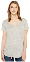 Blank NYC Tee Shirt with Knot Detail in Tie Trying Women's T Shirt