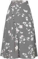 Altuzarra A-line striped skirt