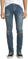 Balmain Side-Stitch Slim-Straight Jeans