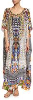 Camilla Embellished Caftan Coverup Maxi Dress