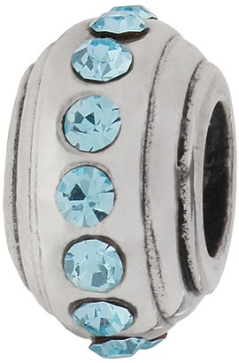 Individuality Beads Crystal Sterling Silver Stopper Bead