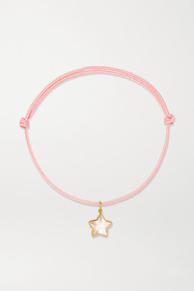 Marie Helene De Taillac Cassiopeia 18-karat Gold, Quartz And Cord Bracelet - one size