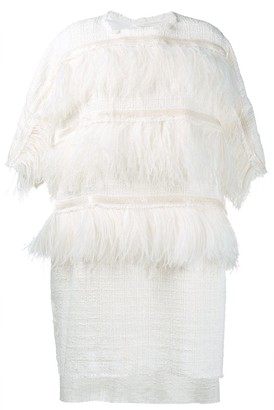 Faith Connexion Ostrich Feather Trim Dress
