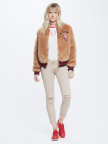 Mother Letterman Patch Fur Jacket - The Fast And The Curious