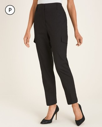 Chico's Petite Stretch Linen-Blend Tapered Utility Ankle Pants