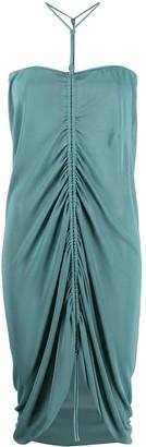 Bottega Veneta Gathered-Detail Halterneck Dress
