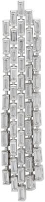 Numbering Silver Baguette Crystal Drop Single Earring