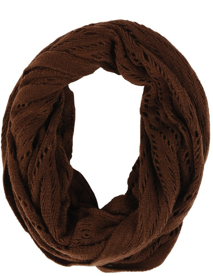 Echo Cut Out Diamond Infinity Scarf
