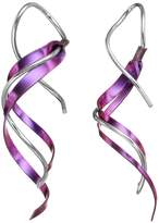 Journee Collection Sterling Silver & Niobium Twist Drop Earrings