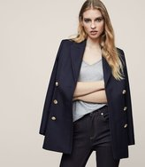 Reiss Pax - Double-breasted Jacket in Blue, Womens