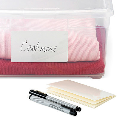 Container Store Erasable Labels Starter Kit Pkg/10