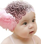 Itaar® Baby Girl Toddler Cute Lace Wide Headband with Big Flower Stretch Headwear