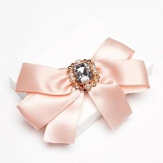 Johnny Loves Rosie Women Pink Glass Clip Sophia Blush Jewelled Hair Bow