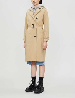 AllSaints Buckle-belt cotton trench coat
