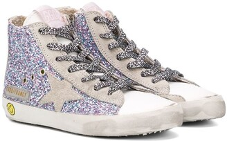 Golden Goose Kids Francy glitter high-top sneakers