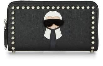 Fendi Black Coated Canvas Karlito Wallet