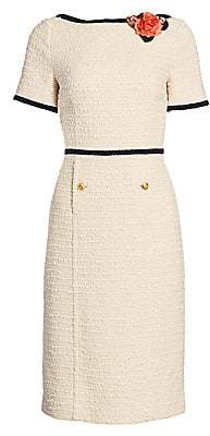 Gucci Women's Sylvie Boucle Tweed Boatneck Dress