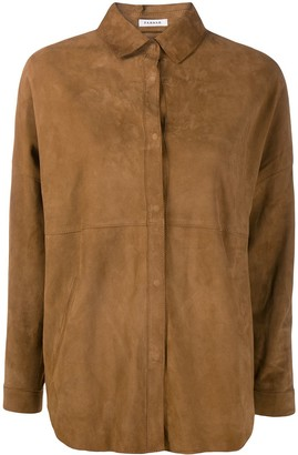P.A.R.O.S.H. Oversized Leather Shirt