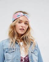 Asos Floral Print Twist Headband