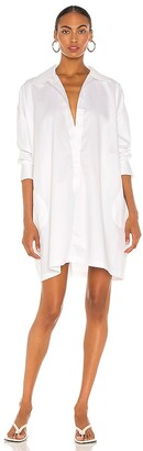 Norma Kamali Super Oversized Boyfriend Shirt Dress