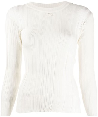 Courreges ribbed knit fitted sweater