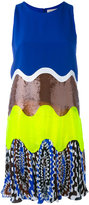 Emilio Pucci wave colour blocked dress - women - Silk - 40