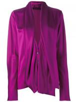 Haider Ackermann draped longsleeved blouse