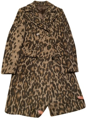 Tagliatore Brown Wool Coat for Women