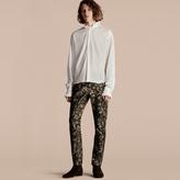 Burberry Ruff Collar Cotton Voile Tunic Shirt