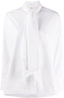 Ports 1961 Scarf-Embellished Poplin Shirt