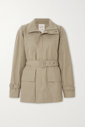 BITE Studios - Net Sustain Belted Organic Cotton-drill Jacket - Army green