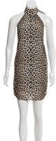 Alice + Olivia Leopard Print Silk Dress