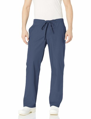 Orange Standard Men's Big and Tall Huntington Unisex Scrub Pants with Drawstring Waist and 4 Pockets