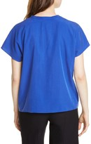 Eileen Fisher Mandarin Collar Top