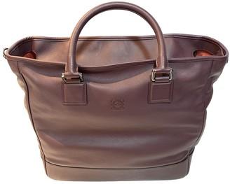 Loewe Amazona Burgundy Leather Handbags