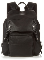 Lanvin Grained-leather and nylon backpack