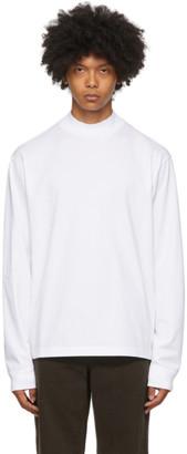 Acne Studios White Mock Neck Long Sleeve T-Shirt