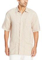 Cubavera Men's Dobby Texture Short Sleeve Woven Shirt