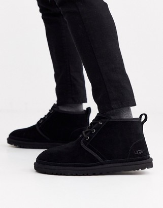 UGG Neumel classic lace up short boots in black suede