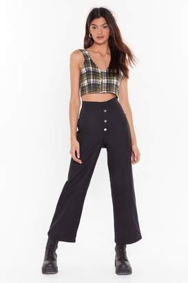 Nasty Gal Womens Vintage Cargo With the Flow Button Trousers - black - M