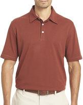 Van Heusen Short-Sleeve Popcorn Knit Polo Shirt