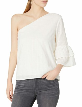 Lucca Couture Women's Isabelle One Shoulder Ruffle Top