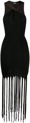 Bottega Veneta Halterneck Fringed Dress