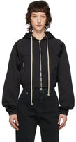 Rick Owens Black Giacca Mini Windbreaker Jacket